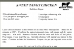 Sweet Tangy Chicken